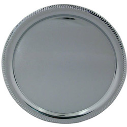 "American Metalcraft 14"" Round Chrome Tray"