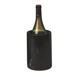 "American Metalcraft 7"" Black Marble Wine Cooler"