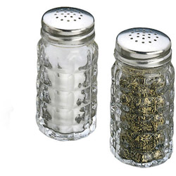 Tablecraft 1 1/2 Ounce Nostalgia Salt and Pepper Shakers