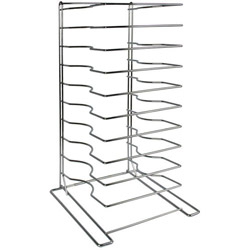 American Metalcraft 10 Tier Chrome Pizza Rack