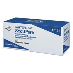 Kimtech* SCOTTPURE Critical Task Wipers, 12 x 23, White, 50/Bx, 8 Boxes/Carton