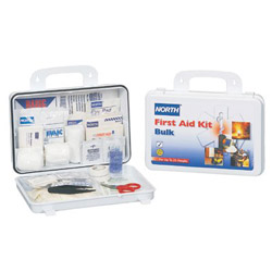 North Safety Products 25 Person Bulk First Aidkit Plastic Case