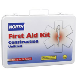 North Safety Products 36 Unit Unitized First Aid Kit Steel Case