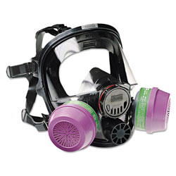 North Safety Products 7600 Series Full-Facepiece Respirator Mask, Medium/Large