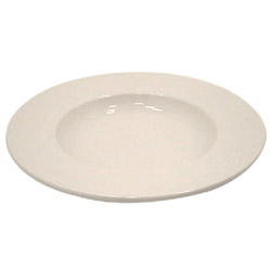 "Vertex China 12"" White Vista Rolled Edge Bowl"