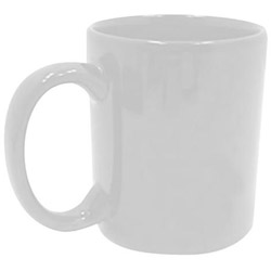 Tri-S Superior Screen 11 Ounce White C-Handle Coffee Mug