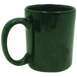 Tri-S Superior Screen 11 Ounce Dark Green C-Handle Coffee Mug