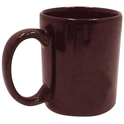 Tri-S Superior Screen 11 Ounce Dark Red C-Handle Coffee Mug