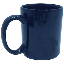 Tri-S Superior Screen 11 Ounce Blue C-Handle Coffee Mug