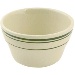 World Tableware Green Band Bouillon Bowl, 7.25 Ounce