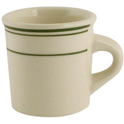 World Tableware Green Band Canton Mug, 7 Ounce