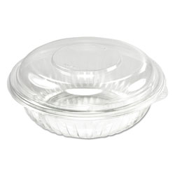 Dart PresentaBowls Bowl/Lid Combo-Paks, 24 oz, Clear, 63/Pack, 4 Packs/CT