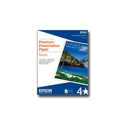 "Epson Matte Paper - White - Letter A Size (8.5"" x 11 In) - 167 G/m2 - 50 Sheet(s)"