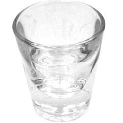 Misc Items 1 Ounce Plain Whiskey Glass