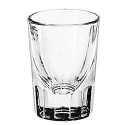 Misc Items 2 Ounce Fluted Whiskey Glass with 1 Ounce Line