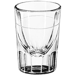 Libbey 5126.78 7/8 Ounce Lined Fluted Whiskey Glass