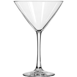 "Libbey Vina Fine Cocktail Glasses, Martini, 10 oz, 7 1/4""Tall, 12/Carton"