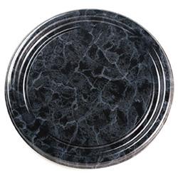 Sabert Round Platter, 12 in, Black Marble