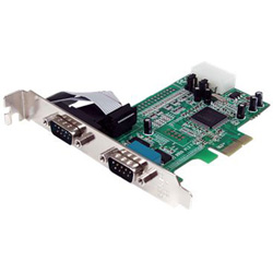 Startech 2 Port Native PCI Express RS232 Serial Adapter Card With 16550 UART - Serial Adapter - 2 Ports