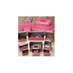 "Southern Champion Pink Bakery Boxes, 8"" x 8"" x 3"", Case of 250"