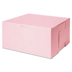 "Southern Champion Pink Bakery Boxes, 10"" x 10"" x 5"", Case of 100"
