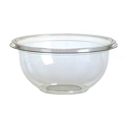 Sabert FreshPack Plastic Round Bowl, 12 OZ, Clear
