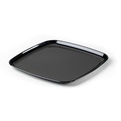 Sabert Mozaik Plastic Square Platter, 16 in, Black