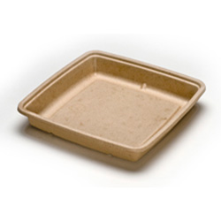 Sabert TerraPac Square Molded Fiber Container, 48 OZ
