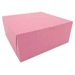 "Southern Champion Pink Bakery Boxes, 12"" x 12"" x 5"", Case of 100"