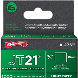 Arrow Fastener JT21 Type Staples, 3/8 in