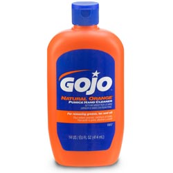 Gojo Natural Orange Pumice Hand Cleaner, 14 oz Bottle, 12/Carton