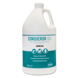 Fresh Products Gallon Lemon Scented Conqueror 103 Odor Counteractant Concentrate