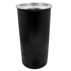 Continental Plastic Sand Urn, 6.8 Gallon, Black