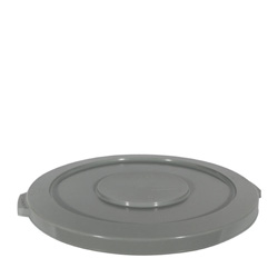 Continental Round Plastic Trash Can Lid, 44 Gallon, Gray
