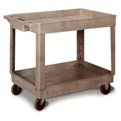 "Continental 2-Shelf Utility Cart, 34"" x 17"" x 33"", Gray"