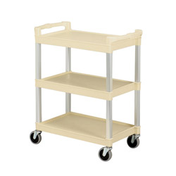 Continental Beige Bussing Utility Cart