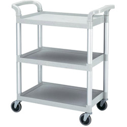 Cambro Gray Bus Cart with Swivel Casters