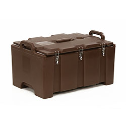 Cambro Camcarrier® 100 Series Capacity 2 Full Size 4 in Deep Pans Dark Brown