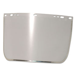 Anchor Face Shield Visor, 15 1/2 in x 9 in, Clear, Bound, Plastic/Aluminum