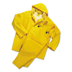 Anchor Rainsuit, PVC/Polyester, Yellow, Large