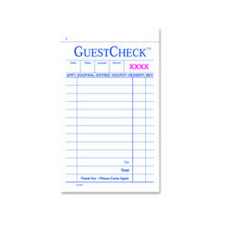 "Adams Business Forms 101 Two Part Carbonless Guest Books, 3 3/8"" x 5 5/8"""