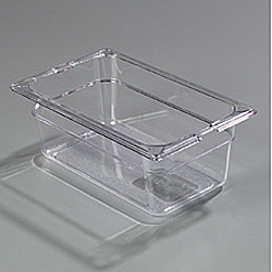 Carlisle Foodservice Products Food Storage Container, 1/4 Size, Clear