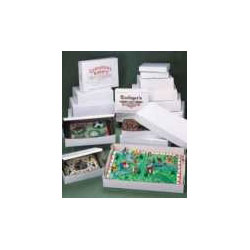 "Southern Champion White Bakery Boxes, 20"" x 28"" x 4"", Case of 25"