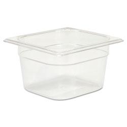 Rubbermaid Cold Food Pans, 1 2/3qt, 6 3/8w x 6 7/8d x 4h, Clear