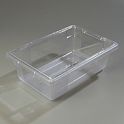"Carlisle Foodservice Products Clear 3.5 Gallon Food Storage Box, 12"" x 18"" x 6"""