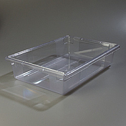 "Carlisle Foodservice Products Clear 8.5 Gallon Food Storage Box, 18"" x 26"" x 6"""