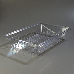 "Carlisle Foodservice Products Clear Colander, 18"" x 26"" x 5"""
