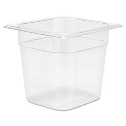 Rubbermaid Carb x Clear Food Pan Insert 1/6 Size