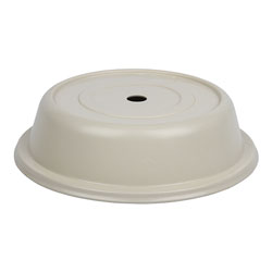 "Cambro Versa Camcover 10 13/32"" Round Plate Cover, Ivory"