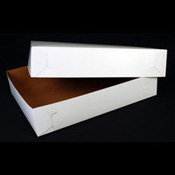 "Southern Champion White Bakery Boxes, 14"" x 19"" x 4"", Case of 50"